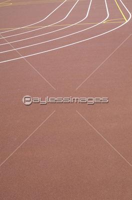 陸上競技場のトラックの写真イラスト素材 Gf0750228800