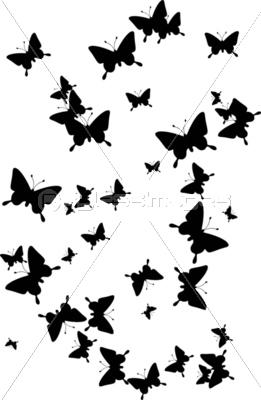 舞い飛ぶ蝶のイメージのイラストの写真イラスト素材 Xf1065040232