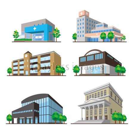 様々な建物 立体図の写真イラスト素材 Xf3455173217 ペイレス