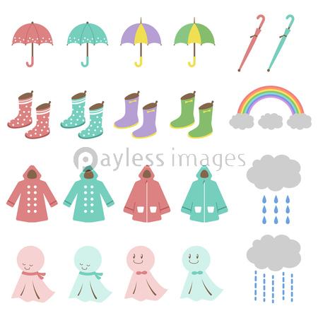 梅雨 イラスト セットの写真イラスト素材 Xf6235234475 ペイレス