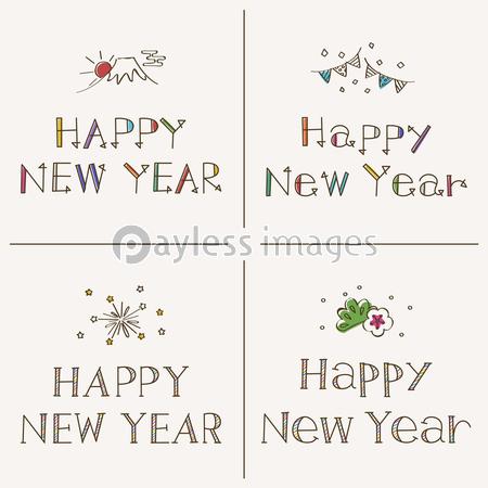 Happy New Year 手書きフォントの写真イラスト素材 Xf6235269840