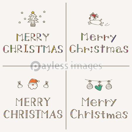 Merry Christmas 手書きフォントの写真イラスト素材 Xf6235269573