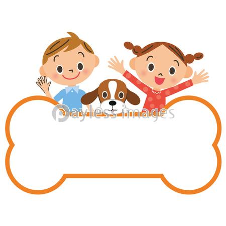 子供集合囲みフレームの写真イラスト素材 Xf4045314835 ペイレス